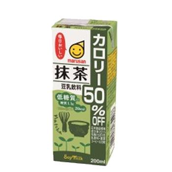 香り高く味わい深い西尾の抹茶を使用しています マルサン 今ダケ送料無料 豆乳飲料 抹茶 カロリー50%オフ 200ml 紙パック 24本入〔豆乳 抹茶〕 大決算セール マルサンアイ とうにゅう