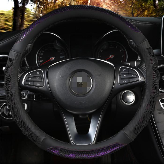 超目玉 ハンドルカバー 軽自動車 おしゃれ コンパクトカー 小型 中型 ステアリング 超激安 カバー キャンディボア 握りやすい 洗える 簡単装着 ステアリングカバー 普通車 RC ハニカム O型 男女兼用 38cm ドライビング 3D 内装用品 カーボン