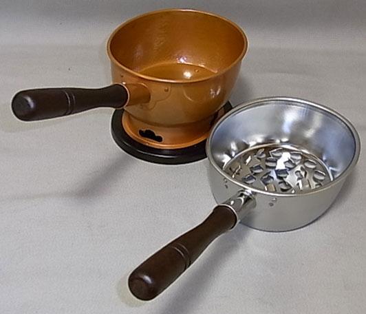 台十能(火起し付)小判型 水屋道具