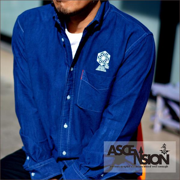 ASCENSION(アセンション)オックスフォードシャツ メンズ(mens)・レディース(ladys)・秋冬・シャツ(shirt)・アウトドア(outdoor)・野外フェス・タイダイ・TIE-DYE(tie dye) as-536