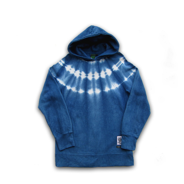 A HOPE HEMP(ホープヘンプ) × ASCENSION(アセンション) HEMP Reverse Sweat PK [藍染め(Indigo)]メンズ・レディース・プルオーバー・プリント・裏起毛 ヘンプ・オリジナル・ワンポイント・秋冬 コーディネート as-556