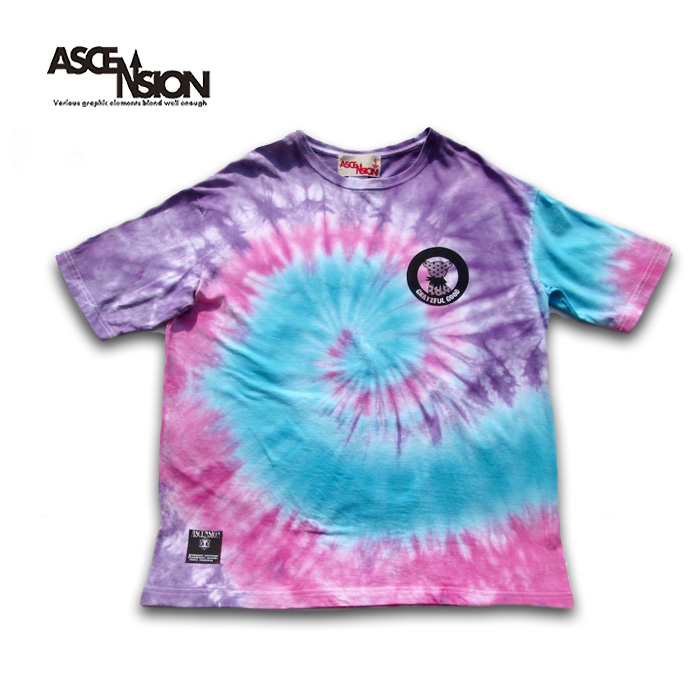 ASCENSION (アセンション)ASCENSION TIE DYE SPIRAL WIDE Tシャツ メンズ(mens)・レディース(ladys)・Tシャツサイケデリック・アウトドア(outdoor)・野外フェス・グラフィック as-787
