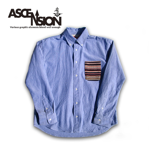 ASCENSION(アセンション)オックスフォードシャツ メンズ(mens)・レディース(ladys)・シャツ(shirt)・デニム・ライトアウター・ヒッコリー・ストリート・アウトドア(outdoor)・デザインas-648