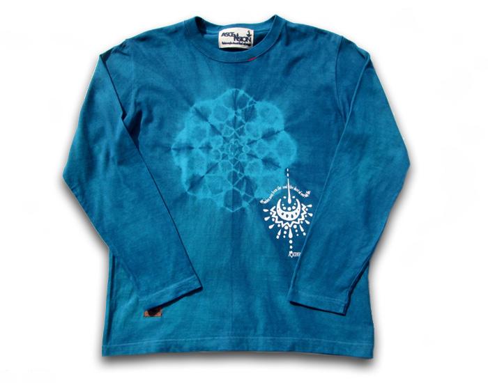 ASCENSION(アセンション)TIE DYE INDIGO Tシャツ(インディゴ染め・メンズ・レディース,Tシャツ (T-shirt)・タイダイ・アウトドア as-684