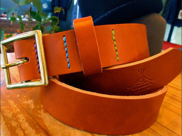 BLUE.art(ブルードットアート)leather belt [blown] ba-034