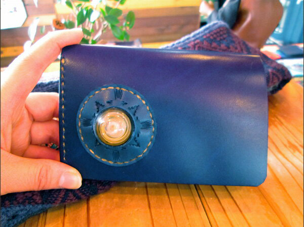 BLUE.art(ブルードットアート)Natural leather wallet ~ Taiga Glass ~ ba-037