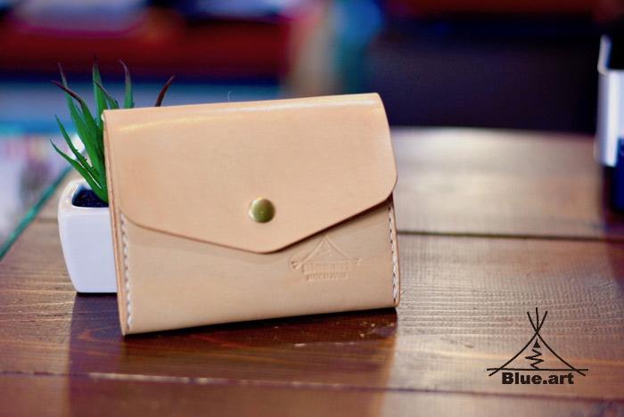 BLUE.art(ブルードットアート)SMART WALLET (ネイティブ ハンドステッチ ナチュラルウォレット)レザークラフト・オーダーメイド・革財布・ステッチ プレゼント・小物・アクセサリー ba-078
