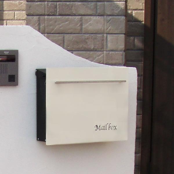 【ポスト 壁付け】【ポスト】 「ノイエキューブ」 四角い形で「Mail box」の文字。 長く人気の壁掛け 壁付けタイプの郵便ポスト 【郵便受け】【POST ぽすと】【送料無料】 | おしゃれな 玄関ポスト 郵便受け箱 メールボックス おしゃれな 壁掛けポスト
