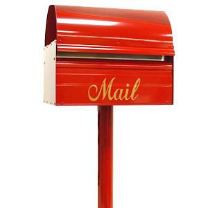 ポスト スタンドセット 「レターボックスマン3091 スタンダードポール付き」 シンプルなスタンド一体型の郵便ポスト おしゃれ 玄関ポスト 郵便受け 自立式 ポール