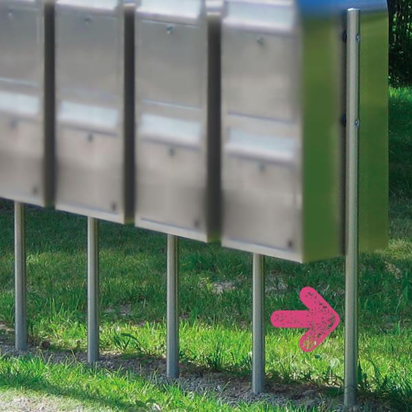 【送料無料】 北欧 ポストスタンド ポストを何個も連結するのに便利 Bobi ボビ社製郵便ポスト専用ポール 「ボビリンク」 郵便受け おしゃれ おしゃれな スタントタイプ スタントポスト メールボックス メール ボックス エントランス エクステリア