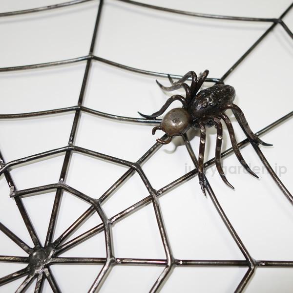 【クモ 装飾】自由自在にお庭にお部屋にアレンジ! 手作りのユニークアイテム「アイアン製クモの巣」 【ウォールアクセサリー】【壁飾り】【蜘蛛】【スパイダー】【アイアン 飾り】【送料無料】