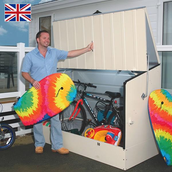 【在庫限りで廃番】 「メタルシェッド スタンダードサイクル クリーム」 別途組立オプションあり おしゃれな自転車置き場 サイクルポート サイクルガレージ 物置き ガーデン[pt_sale][pt_sale2]