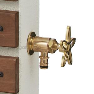 【蛇口】【水栓】お花の持ち手が可愛い蛇口「ホース接続水栓 フラワーハンドル」スミレハンドル