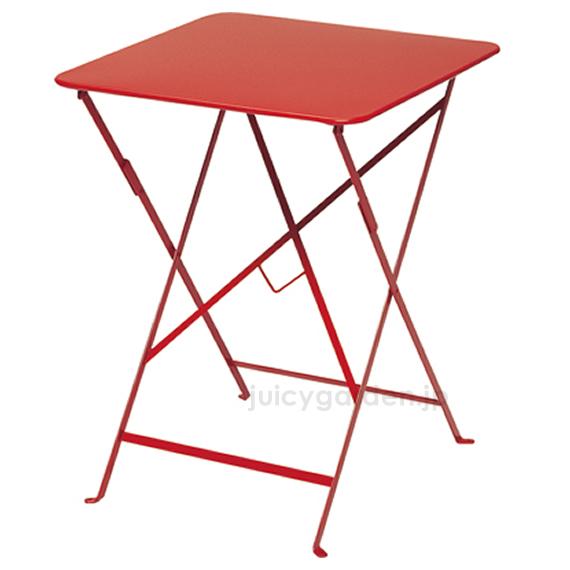 【テーブル】【机】 2人掛けにピッタリな「Fermob フェルモブ ビストロテーブル 57×57」折り畳んで収納出来ます! 【フェルモブ】【ファニチャー】【ガーデン】【庭】【送料無料】