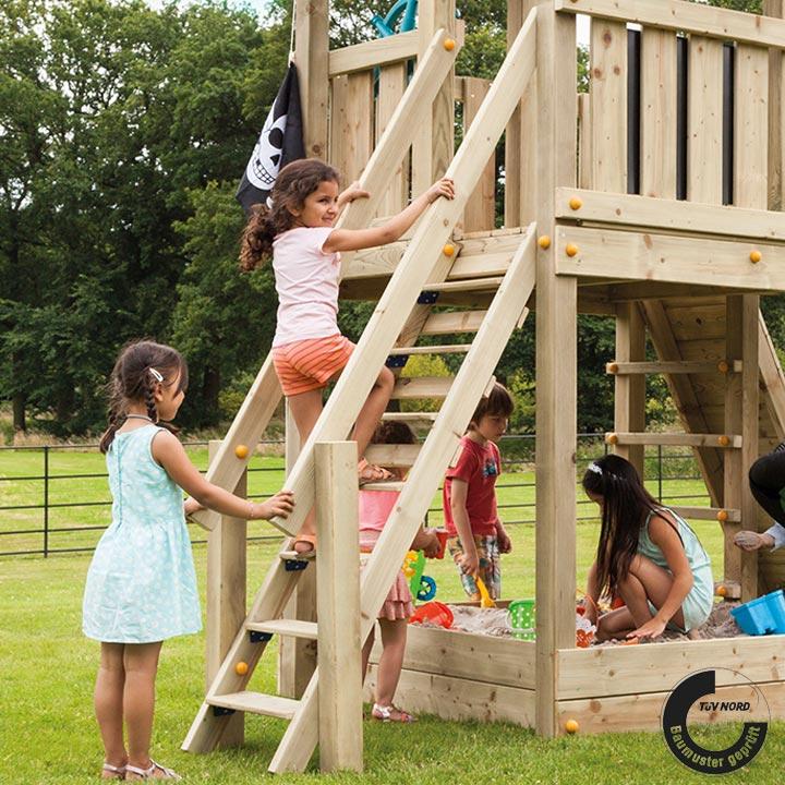 【送料無料対象外】【屋外 大型 DIY 遊具】「はらっぱギャング はらっぱBASEオプション ステップ (STEP) 木材(エコアコールウッド)セット」