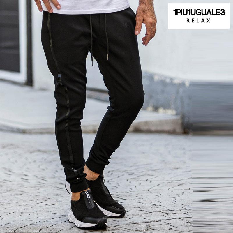 1PIU1UGUALE3 RELAX ウノピゥウノウグァーレトレ リラックス ジャージ ジョガーパンツ メンズ パンツ