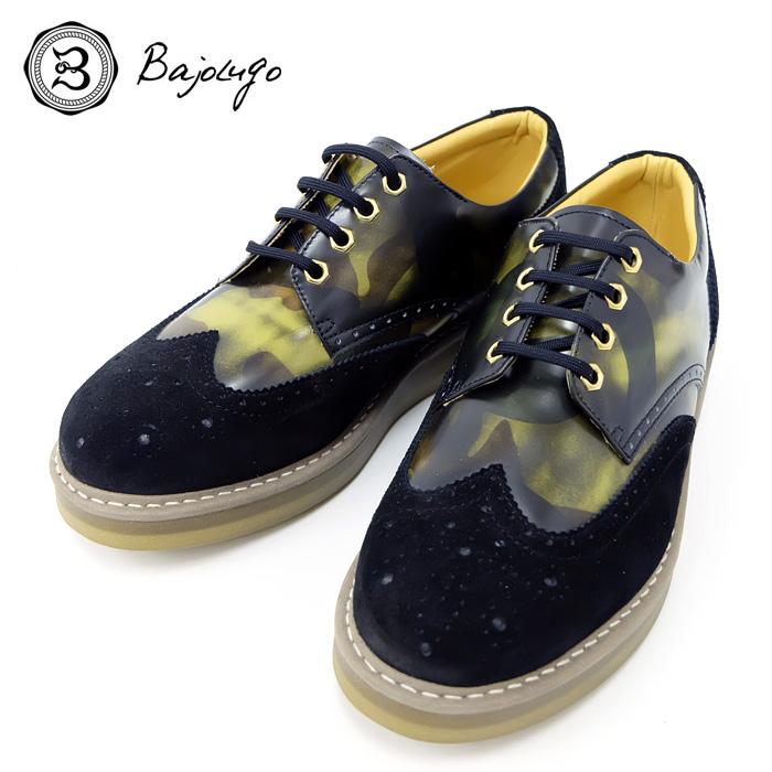 BajoLugo バジョルゴ おとこのブランドHEROES 掲載 ウィングチップ シューズ 靴 スニーカー カモフラージュ 迷彩 カモフラ MENS メンズ 送料無料