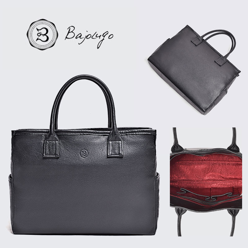 BajoLugo バジョルゴ トートバッグ ソフトレザーシボ ブラック バッグ 鞄