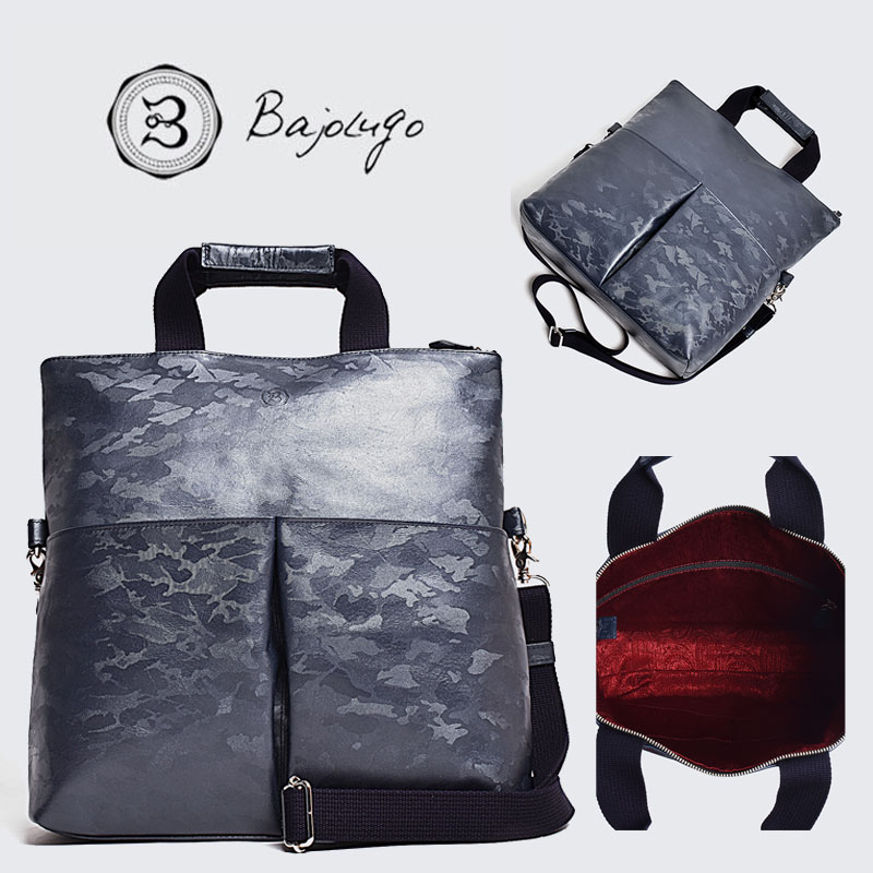 BajoLugo カモフラ バッグ バジョルゴ クラッチトート ネイビー 3WAY 鞄