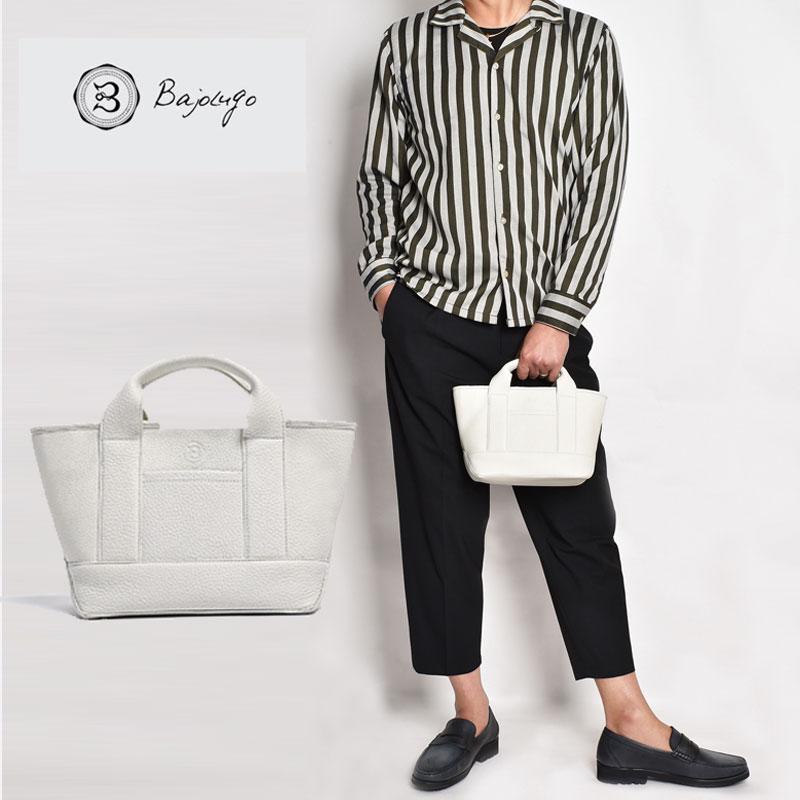 【11月下旬入荷予定】 BajoLugo バジョルゴ チビトート シボ ホワイト バッグ 鞄