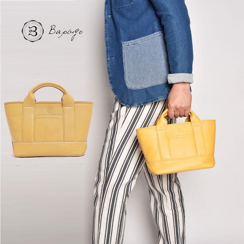 【11月下旬入荷予定】 BajoLugo バジョルゴ チビトート シボ イエロー バッグ 鞄