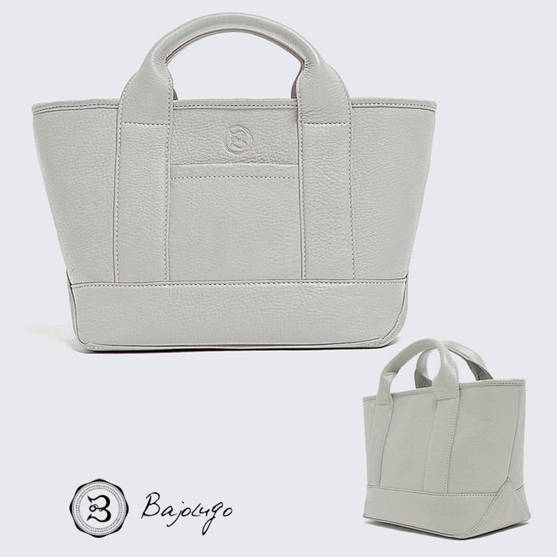 【数量限定商品】 BajoLugo バジョルゴ チビトート シボ ライトグレー バッグ 鞄