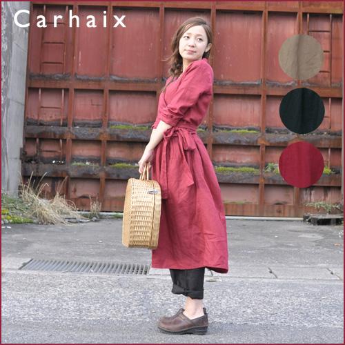 かわいい! Carhaix ワンピース キャレ キャレ リネン カシュクール風 カシュクール風 ワンピース, STYLE VILLAGE:53d5ae31 --- canoncity.azurewebsites.net