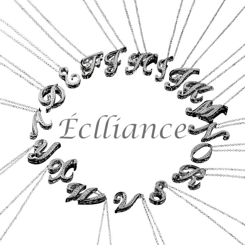 Eclliance エクリアンス 18K Silver Luxury Alphabet Initial Necklace シルバー アルファベット イニシャル ネックレス メンズ レディース ブランド