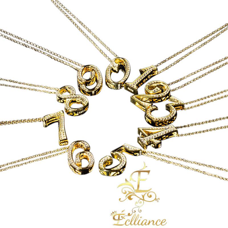 Eclliance エクリアンス Number Necklace S925 ナンバー ネックレス メンズ レディース ブランド