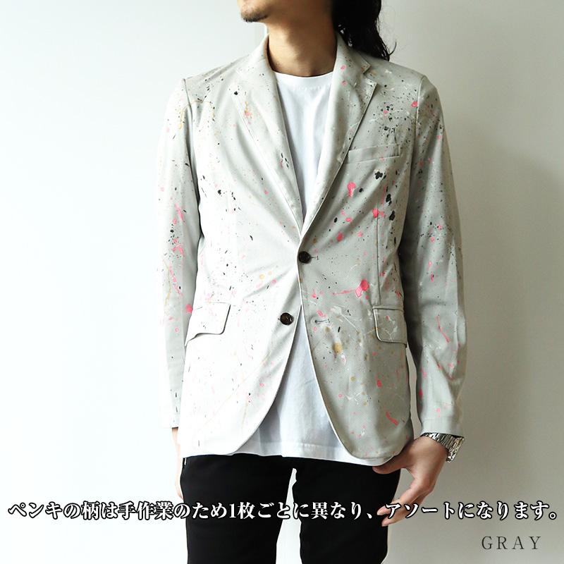 Gioco Serio ジョーコセリオ Jogging Suits ジャージ スーツ ジャケット ペイント リメイク ペンキ メンズ