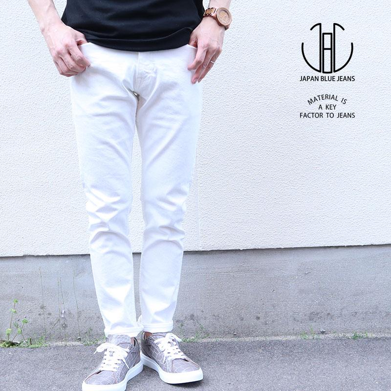 JAPAN BLUE JEANS ジャパンブルージーンズ PREP プレップ イージー ストレッチ デニム 10oz ホワイト デニム ジッパー メンズ パンツ ボトムス