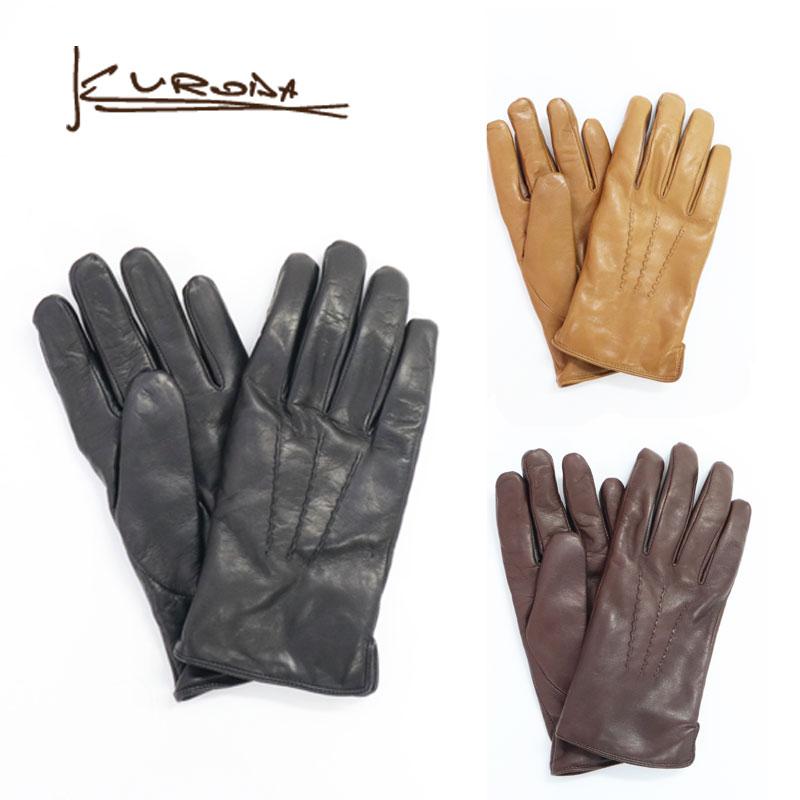 kuroda クロダ 革手袋 羊革 ボア 手袋 メンズ グローブ スマートフォン対応