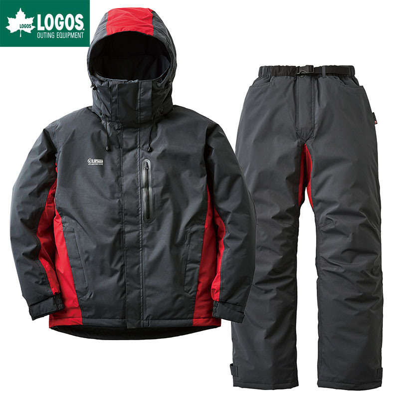 LOGOS ロゴス ストレッチ 防水防寒スーツ リフェット メンズ チャコール LL