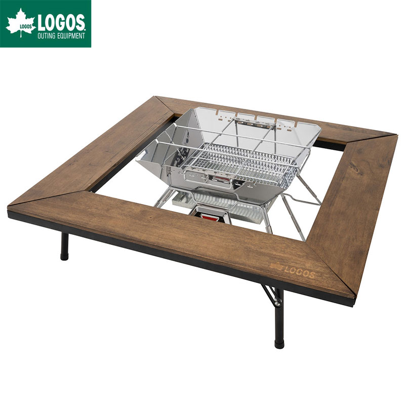 LOGOS ロゴス アウトドアテーブル アイアンウッド囲炉裏テーブル
