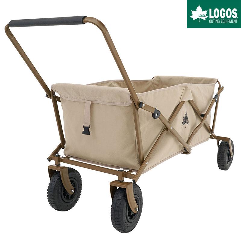 LOGOS ロゴス アウトドア キャリーカート 4輪 折りたたみ ワンタッチ おすすめ 大型 Tradcanvas 丸洗いカーゴキャリー