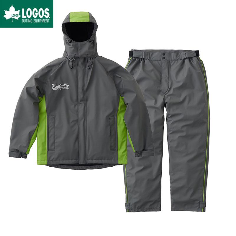 パメラ M グレー ロゴス 上下セット リプナー LOGOS LIPNER 超耐水防水防寒スーツ