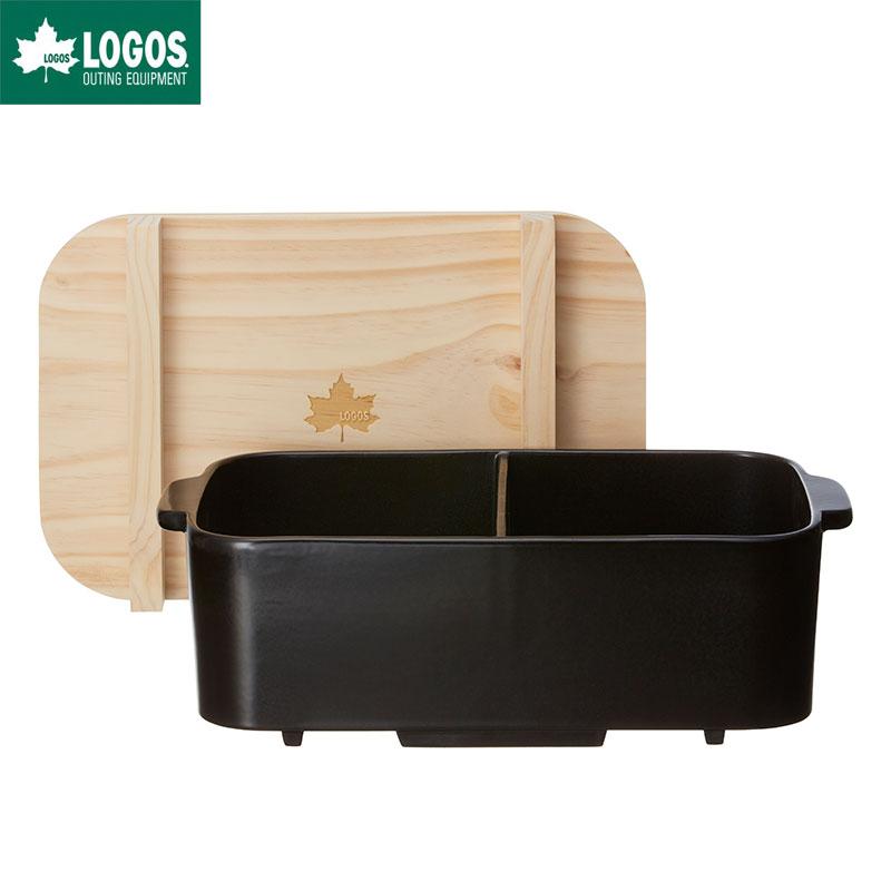 LOGOS ロゴス アウトドア 仕切おでん土鍋 木葢付