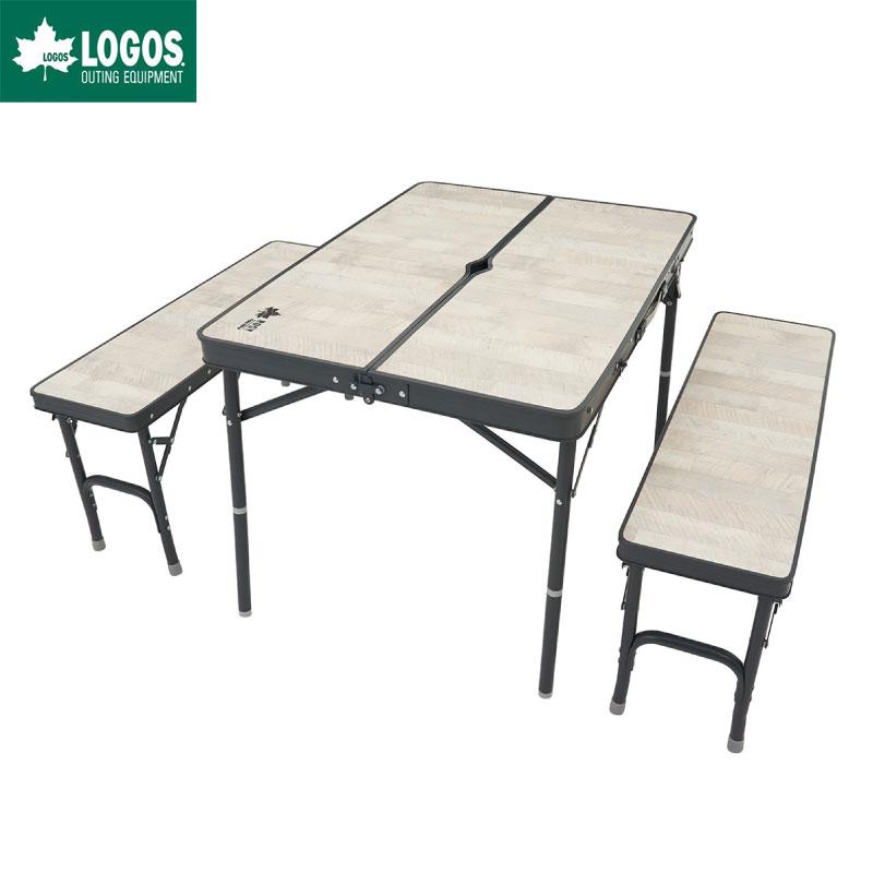 LOGOS ロゴス ROSY ベンチテーブルセット4