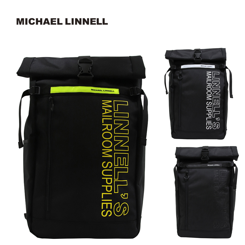 MICHAEL LINNELL マイケルリンネル リュック Roll Top Bag ロールトップ バッグ バックパック リフレクター 鞄 45L メンズ レディース ML-027