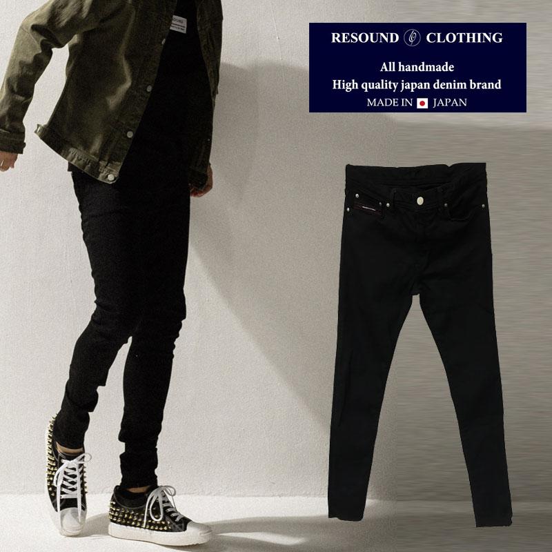 RESOUND CLOTHING リサウンドクロージング RC9 LOAD DENIM BLACK 黒 メンズ