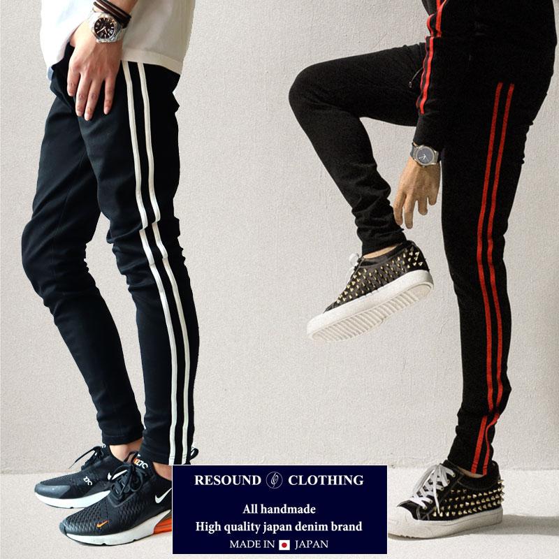 RESOUND CLOTHING リサウンドクロージング Blind LINE PT BLACK ニューシルエット BLIND スーパータイト テーパードパンツ メンズ