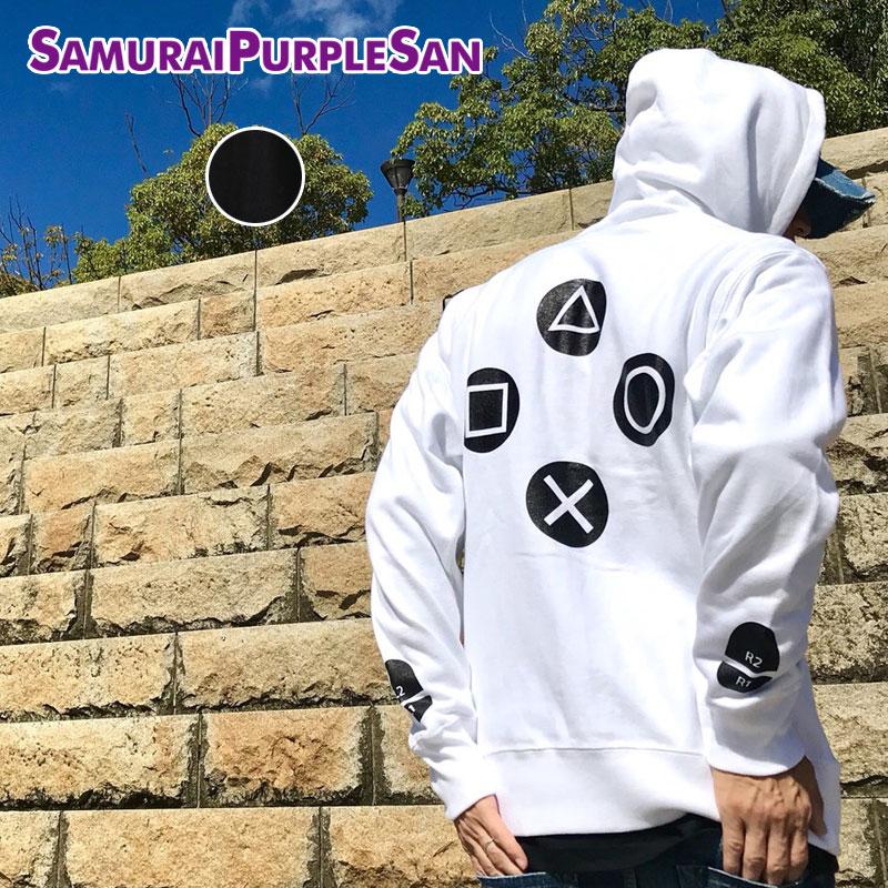 SAMURAI PURPLE SAN サムライパープルサン SPS ジップパーカー メンズ レディース 白 黒