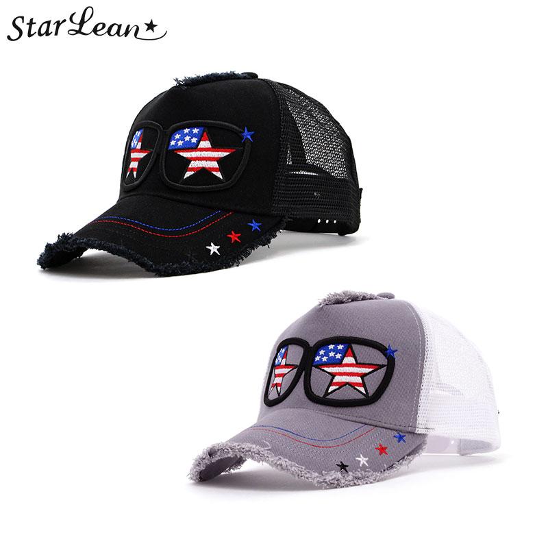 634edfc72 The star re-Ann StarLean StarLean ★ sunglasses embroidery mesh cap (USA)  hat CAP star star men gap Dis unisex black black gray Star-Spangled Banner