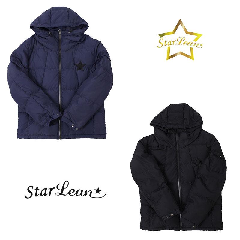 スターリアン StarLean ダウンジャケット 星 メンズ レディース 黒 紺