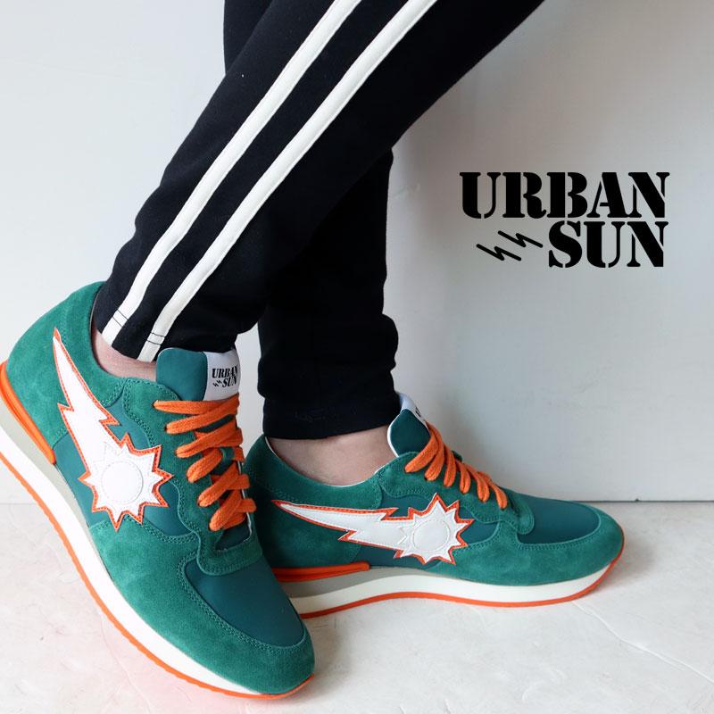 URBAN SUN アーバンサン スニーカー vincent200 ヴィンセント 国内正規品 緑 オレンジ メンズ