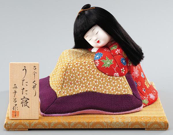 【真多呂】【わらべ人形】古今浮世人形 うたた寝