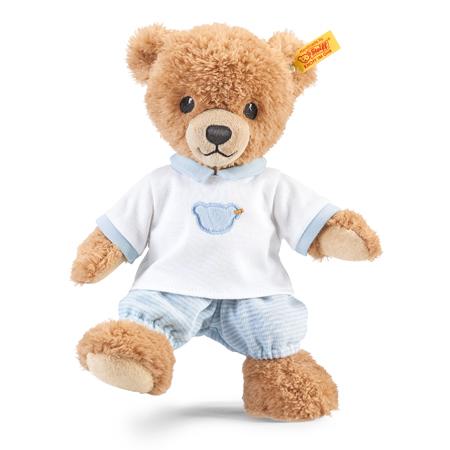 【シュタイフ steiff】シュタイフ社製おやすみクマちゃん ブルー 25cm