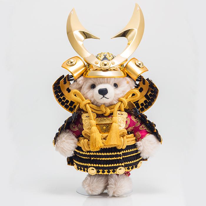 五月人形 Steiff シュタイフ 2019年発売 テディベア サムライ(ハヤブサ) 製作限定:500体 おしゃれ