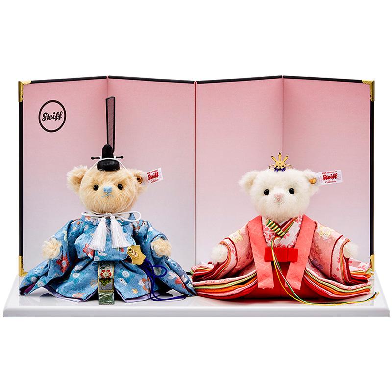 雛人形 ひな人形 雛 コンパクト シュタイフ Steiff シュタイフ テディベア ひな人形(桜うさぎ) 2020年 日本限定1500体 おしゃれ