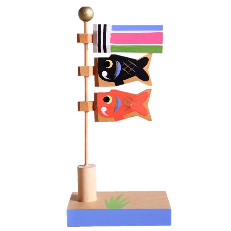 端午の節句 一刀彫 手作り 木製のお人形 驚きの値段で 五月人形 木製 南雲 店 おしゃれ ミニ鯉のぼり